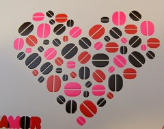 Pink and red coffee heart.... (by Loca....)