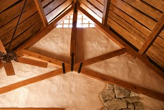 Scissor Truss (Gary Zuker) Tags: house building natural timber straw frame cob earthenarchitecture naturalbuilding earthen strawhouse strawclay timberfame
