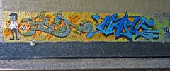 River * Maple (p...kin...e) Tags: bridge graffiti bucket rocks tracks minneapolis