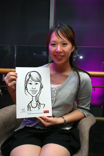 Caricature live sketching for TLC - 13