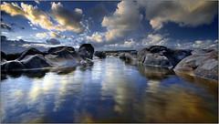 Great Lake at Ogmore! (opobs) Tags: sunset sky beach water southwales wales seaside sand rocks may canon5d gitzo ogmore valeofglamorgan bridgend anglefinder ogmorebysea 2011 1740mml wetknees ogmorebeach opobs cokinxpro traethogwr michaeljstokesawpf