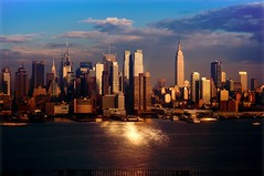 New York City (mudpig) Tags: city nyc newyorkcity longexposure sunset cloud ny newyork reflection skyline geotagged gold newjersey cityscape timessquare esb bankofamerica hudsonriver empirestatebuilding gothamist chryslerbuilding hdr hoboken newyorktimes unionhill mudpig stevekelley stevenkelley
