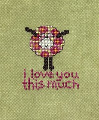 AB Designs I love you this much by Renee's Stitching