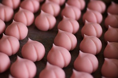 who took one? (jam343) Tags: pink japan 50mm interestingness spring traditional peach sweets wagashi 和菓子 seioubo