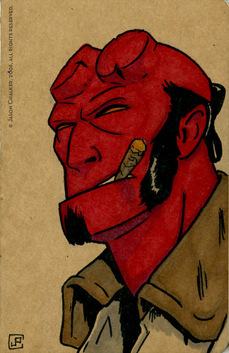 Hellboy Custom Sketchbook