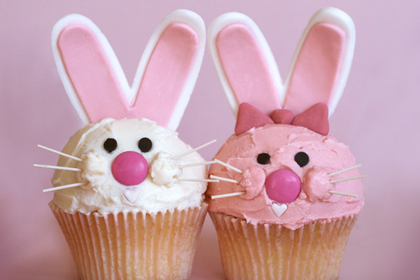 simple easter bunny cupcakes. Easter bunny cupcake how-