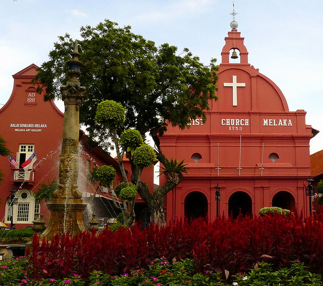 The Christian Chuch in Malacca and former residence of Dutch governor