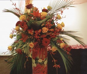 Floral arrangements by Town & County Flowers