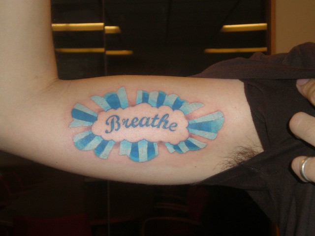 breathe tattoo. tattoo by Emma @ Porcupine Studios, 5/18/2008