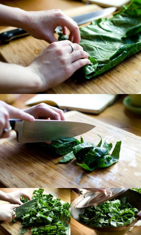 Prepping Collards