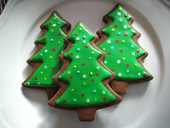 christmas trees (sweetopia*) Tags: christmas baking sweet treats journal gingerbread christmastrees decoratedcookies