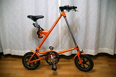 Lespo Ezy Bike (Strida Clone) (Jeff (xnine)) Tags: orange bike bicycle triangle chinese  bicicleta korea korean clone bicyclette 3000 folder fahrrad fietsen folding bundang foldingbike strida cykel  hybred tamron2875mm    radfahren  citybike  smallwheels  lespo rijwiel   jeffrader xnine  trianglebike   samchuly ezybike asianstridaclone   mrower jechanarowerze