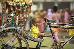 Baby Rickshaw (David A Mckee) Tags: poverty man hot ferry river asia child heat cry rickshaw bangladesh