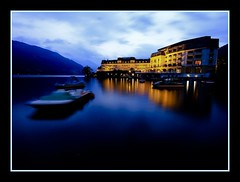 grand hotel (zell am see 2008) (mohammad khorshid (boali)) Tags: travel lake night hotel see am shot wide grand kuwait 2008 zell   kwt   creativephotography