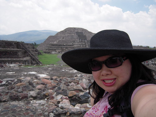 Joz at the Pyramid of the Moon at Teotihuacan