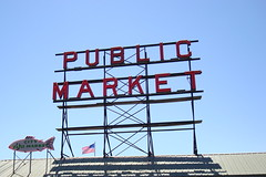 public market and a fish (megbarkelar) Tags: seattle signage wa publicmarket