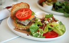 Turkey Burger with BLT Salad