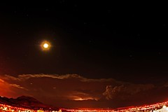Moon, Stars, Thunder, and Lightning (Satxvike) Tags: moon stars texas elpaso thunderstorm lightning thunder satxvike henrydelgado
