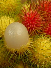 Rambutan (#Panama) Tags: fruit yummy colorful sweet colores tropical ripe rambutan mostviewed ripefruit masvistas nepheliumlappaceum nephelium lappaceum colorphotoaward flickrlovers yellowrambutan