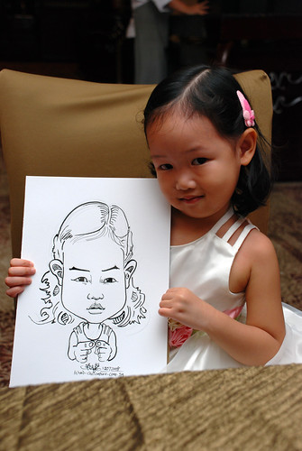 caricature live sketching for wedding dinner 120708  - 33