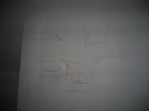 Master bedroom fireplace diagram