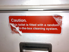 Caution - Random jack-in-the-box cleaning system