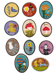 Felt Pins :) (Elsita (Elsa Mora)) Tags: art wool nature colors thread illustration