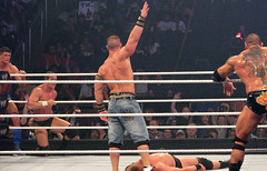 "John Cena says ""You can't see me!"" to JBL"