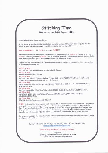 Newsletter 308 August 2008