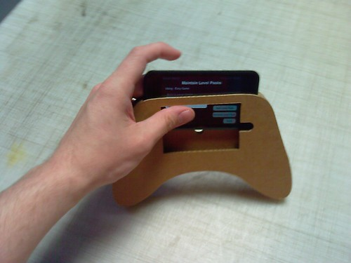 iPod Touch Cardboard Game Controller