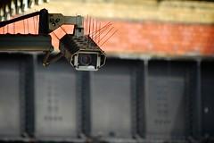 Frontansicht einer Überwachungskamera