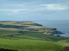 Pennan Bay and Troup Head (ewenhwatt) Tags: rural landscape bay coast scotland countryside aberdeenshire head buchan moray headland firth localhero troup pennan grampian kullykan auchmeden
