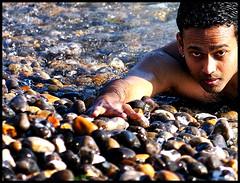 Feroz Wahab (Prabhu B Doss) Tags: uk portrait people beach 50mm nikon pebble eastbourne pebblebeach sevensisters prabhu feroz blueribbonwinner d80 prabhub prabhubdoss ferozwahab prabhuboomibalagadoss zerommphotography 0mmphotography