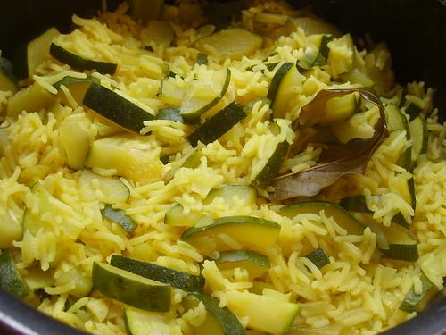 Courgettes au Riz et Curry