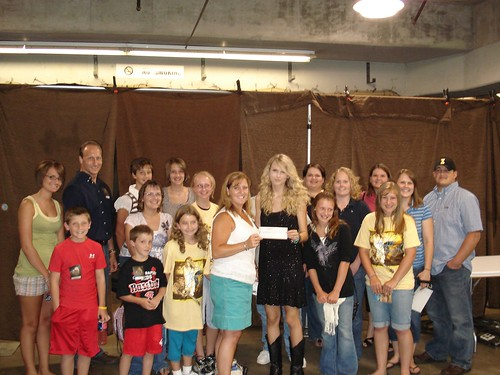 Taylor Swift with Red Cross friends and family