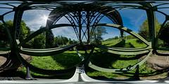 WTB- Biesenbachviadukt and tripod (Bernhard Ehrminger) Tags: panorama germany 3d 360x180 equirectangular kugelpanorama wutachtalbahn epfenhofen smcpdafisheye1017mmf3545 biesenbachviadukt