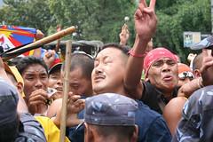 ongoing protest,14th agst. (phurpu tsering) Tags: china nepal protest katmandu freetibet phew