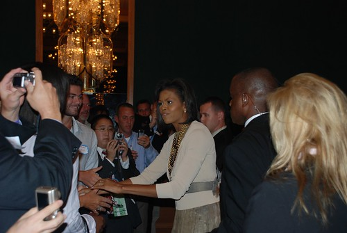 Michelle Obama at the LGBT Delegates Luncheon