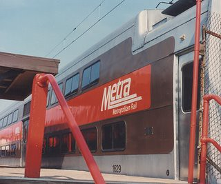 Central Electric Railfan's Association May 1990 Charter train at the Metra Electric vermont Street Station. Blue Island Illinois. by Eddie from Chicago