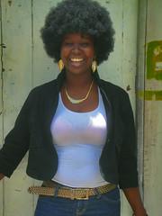Her Afro look