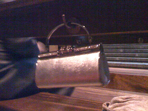 Handbag on Pew