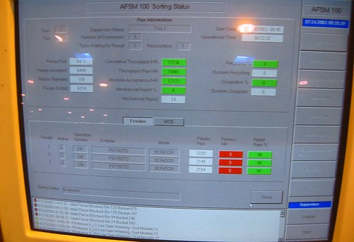 20030724 - USPS - AFSM (Automated Flats Sorting Machine) - screen - status screen - 100-0085 by Rev. Xanatos Satanicos Bombasticos (ClintJCL)