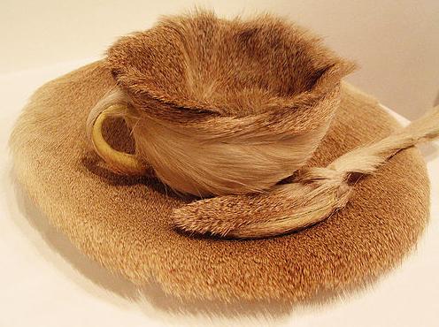 fur tea cup
