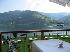Zell am see (SaudiSoul) Tags: vienna mountain lake nature restaurant austria cafe zellamsee zell النمسا طبيعه كافيه بحيره سفينه زيلامسي