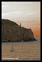 Lighthouse (violinconcertono3) Tags: sunset sea summer vertical evening boat sailing dusk explore mallorca lightouse 1963 19sixty3