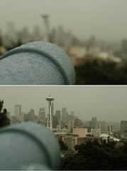 Seattle (picturethisforever) Tags: seattle rain skyline anne washington october diptych view queen friday