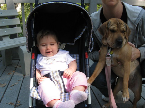 Sophia and Laney at the park