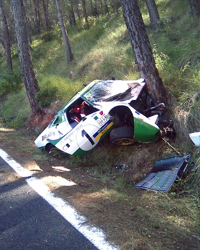 lancia stratos crash
