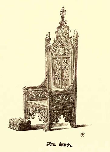 17- Muebles estilo gotico del XV- Sillon de brazos