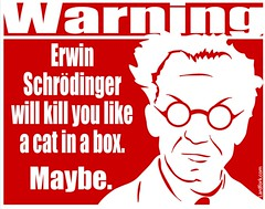 poster about Erwin Schrodinger's cat